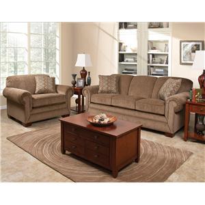 England Monroe 3 Piece Sectional with LAF Sofa