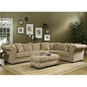 Fairmont Designs Sara 3524 Sectional - Sofa Groups