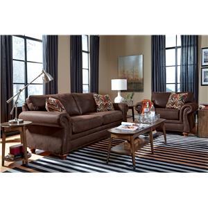 Flexsteel Gregory Stationary Living Room Group