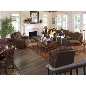 Flexsteel Latitudes - New Town Curved Reclining Sectional Sofa with Storage Consoles