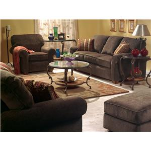 Flexsteel Thornton  3 Piece Sectional with Chaise