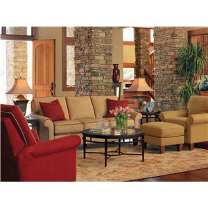 Flexsteel Westside Casual Corner Sectional Fabric  Upholstered Sofa