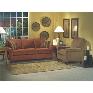 Flexsteel Westside Casual Style Sectional Fabric Sofa