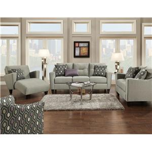 Fusion Furniture 8210 Stationary Living Room Group