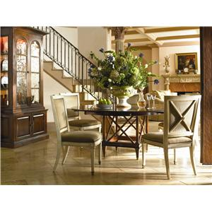 Hickory White Continental Classics Upholstered High-Back Dining Bench