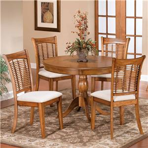 Hillsdale Bayberry and Glenmary Five Piece Round Dining Set