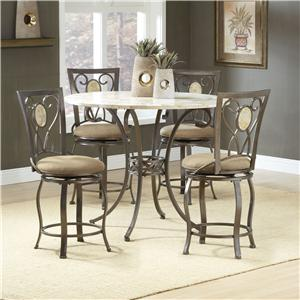 Hillsdale Brookside Five Piece Counter Height Dining Set with Diamond Back Stools