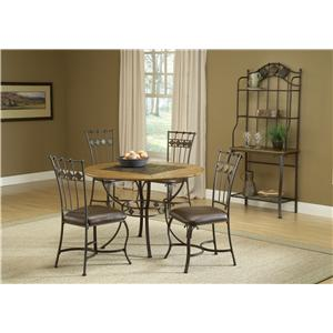 Hillsdale Lakeview 5-Piece Round Dining Set w/ Wood Chairs