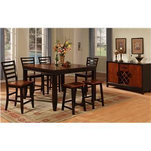 Holland House Adaptable Dining Rectangle Leg Table