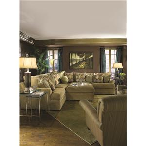 Huntington House 7100 Godfrey Casual Contemporary L-Shape Sectional Sofa