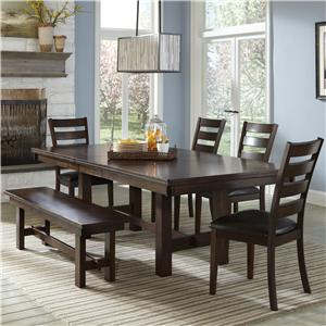 Intercon Kona 6 Piece Mango Wood Dining Room Set
