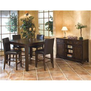 Intercon Kona Backless Dining Bench with Upholstered Seat