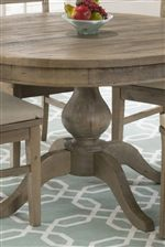 Beautiful Pedestal Detail Of This Round Table Adds To The Chic Cottage Feel