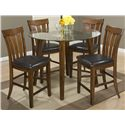48in. Round Counter Height Table and Stool Set