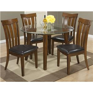 """Jofran Plantation 48"""" Round Dining Height Table and Chair Set"""