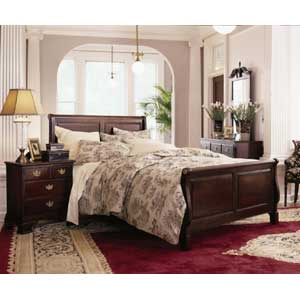 Kincaid Furniture Carriage House King Flat Headboard Rice Poster Bed