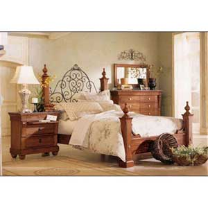 Kincaid Furniture Tuscano California King Panel Headboard & Footboard Bed