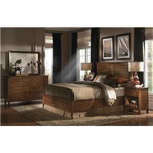 Kincaid Furniture Cherry Park California King Panel Headboard & Footboard Bed