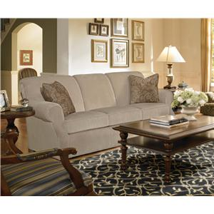 Kincaid Furniture Lynchburg Sofa with Rolled Back and Tapered Wood Feet