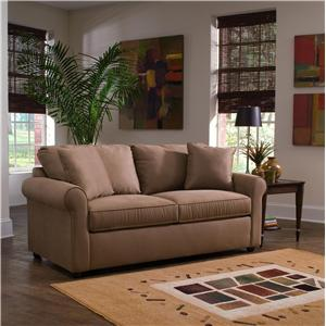Klaussner Brighton Dreamquest Queen Sleeper Sofa with Rolled Arms