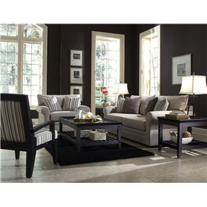 Klaussner Comfy Stationary Living Room Group