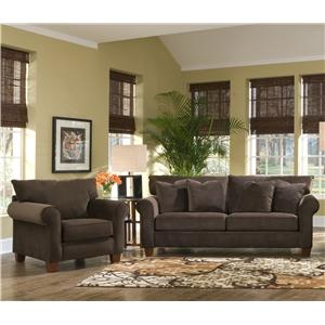 Klaussner Hideaway Stationary Living Room Group