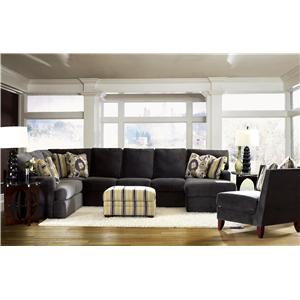 Klaussner Maclin K91500 Sectional Sofa with Left Side Chaise