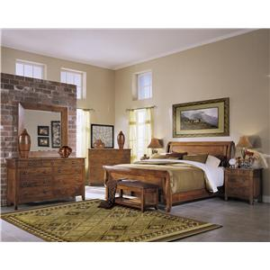 Klaussner International Urban Craftsmen King Sleigh Bed