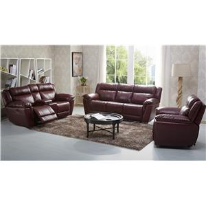 K c norton reclining leather sofa walker 39 s furniture for Furniture east wenatchee