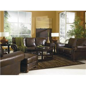 Lane Benson  Loveseat with Nailhead Trim