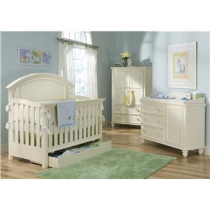 Legacy Classic Kids Summer Breeze Twin Size Low Poster Bed