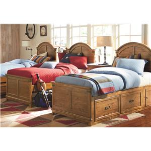 Legacy Classic Kids River Run Twin Bookcase Bed with Underbed Trundle or Storage Drawer Unit