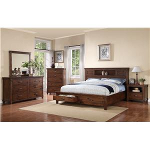 Vendor 1356 Restoration King Bedroom Group