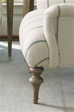 Turned Ball and Ring Legs Compliment the Elegant Setting and Provides Understated Style