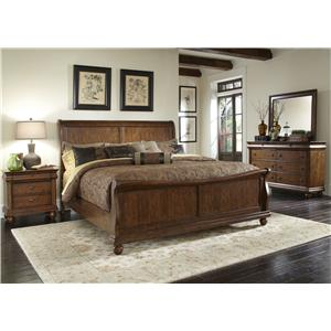 Vendor 5349 Rustic Traditions Queen Bedroom Group 2