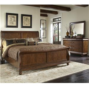 Vendor 5349 Rustic Traditions Queen Bedroom Group 1
