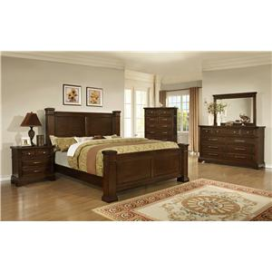 Lifestyle Timber Queen Bedroom Group