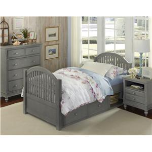 NE Kids Lake House Twin Adrian Storage Bed