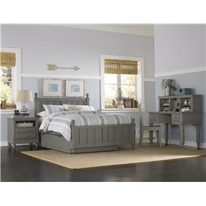 NE Kids Lake House Twin Kennedy Trundle Bed