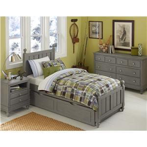 NE Kids Lake House Full Kennedy Trundle Bed