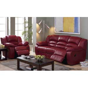 Palliser Prentice Leather Upholstered Sofa Recliner