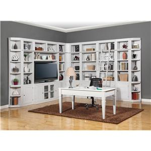 Parker House Boca Five-Piece Library Wall Unit