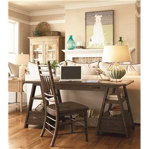 Paula Deen by Universal Down Home Family-Style Table with Side and Arm Chairs