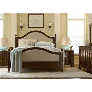 Paula Deen by Universal River House Queen Sleigh Bed with Bun Feet