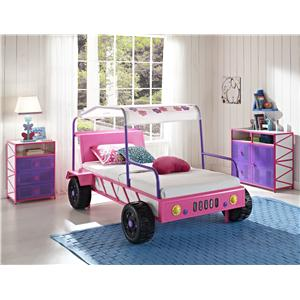 Powell Jeep Pink & Purple Door Dresser with 2 Drawers