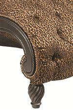 Decorative Feet And Exposed Wood Trim Create A Classic Look Of Living Room  Splendor