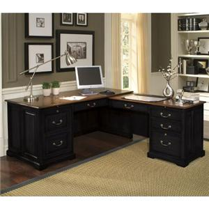 Riverside Furniture Bridgeport  L-Shaped Computer Workstation Desk