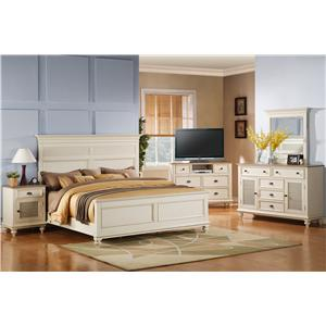 Riverside Furniture Coventry Two Tone California King Bedroom Group