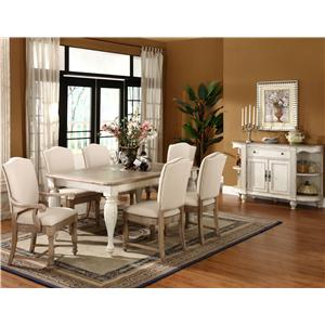 Riverside Furniture Coventry Two Tone Formal Dining Room Group