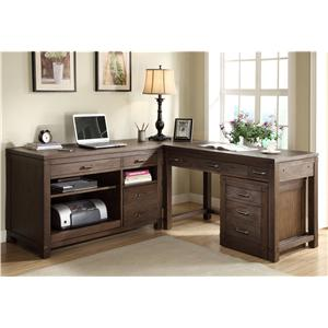 Riverside Furniture Promenade  Canted Computer Desk